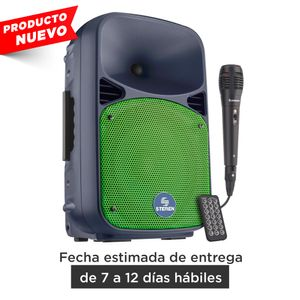 Bafle Steren 8 pulgadas de 1,100Watts PMPO Bluetooth con batería recargable