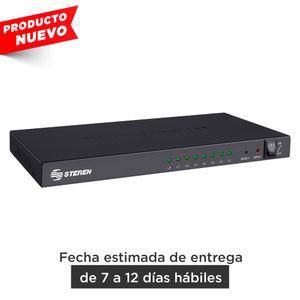 Divisor Steren con amplificador HDMI ultra HD, de 8 salidas