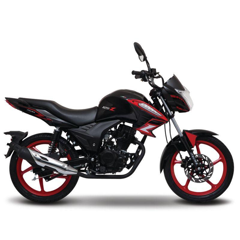 Moto de trabajo Italika 125z de 125cc Negro/Rojo
