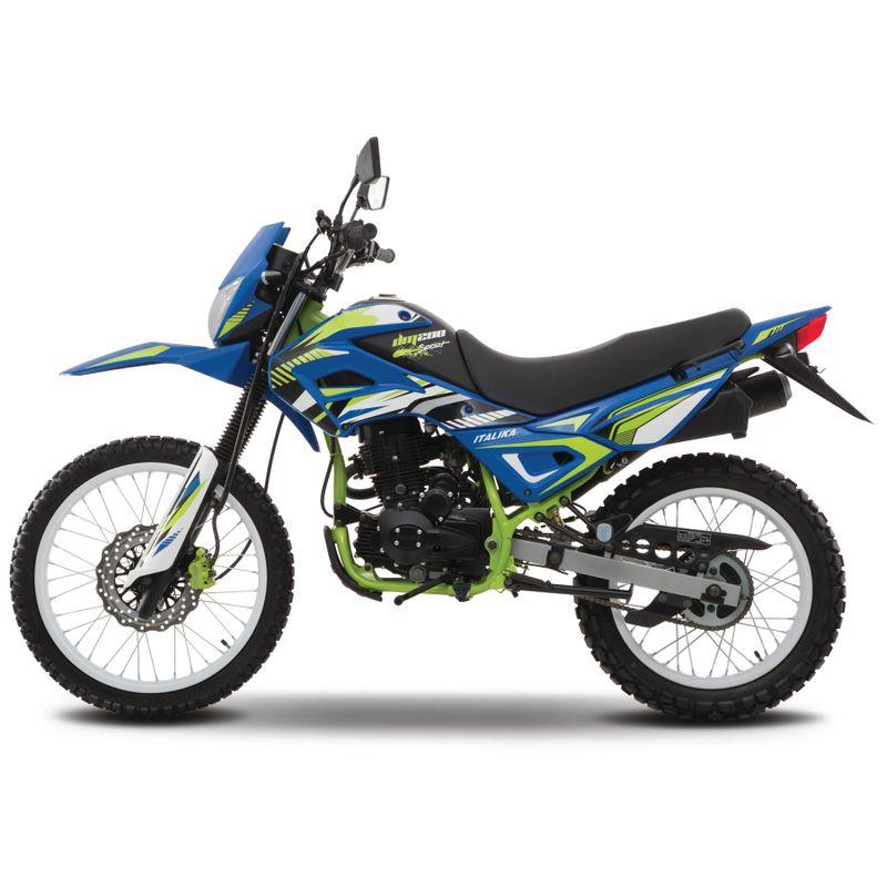 Moto Italika Dm200 Sport Azul/Verde