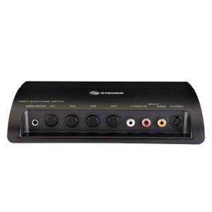 Switch ABCD de audio y video, con conectores RCA y S-Video