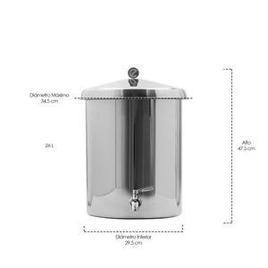 Ecofiltro de acero Blanco de 1 pieza