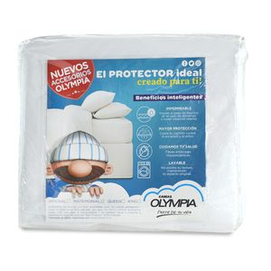 Protector de colchón Queen Size Olympia Dream Team impermeable