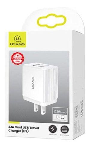 Cubo de carga Doble Usams USB 2.1a de Carga rápida CC089