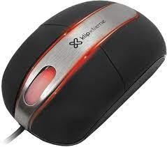 Mouse óptico con cable LiteGlider Klip Xtreme KMO-102